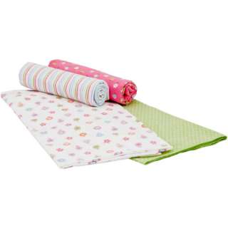 Gerber Baby Girl Flannel Receiving Blankets, 4 Pack Bedding & Decor
