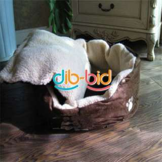 Door Pet Round Puppy Dog Cat Soft Winter Warm Big Bed House Nest