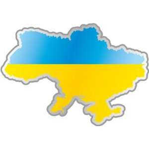 Ukraine Ukrainian map flag car bumper sticker decal 5 x 4