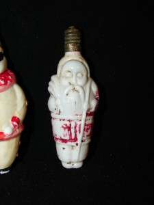 Vintage/Antique Christmas Santa & Joker? Milk Glass Light Bulb