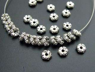 350 Tibetan Silver Flower Spacer Beads B641 Free Ship