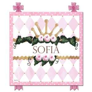 Chic Princess Crown Royal Rose Name Plaque Home & Kitchen