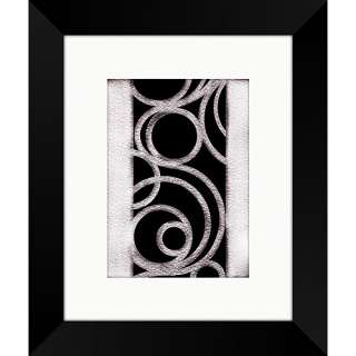 Black and White Swirls Framed Art, II: Decor