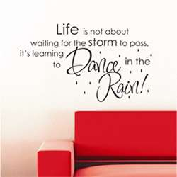 Vinyl Attraction Life islearning to dance in the rain Vinyl Decal