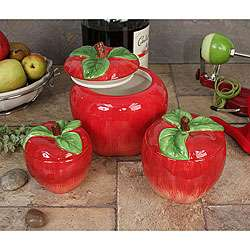 Loren Products 3 piece Apple Canister Set