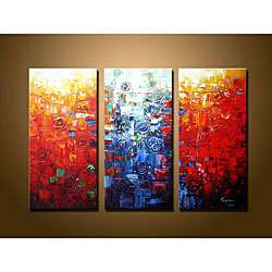 Abstract Hand painted Oil Painting Canvas Art Set  Overstock