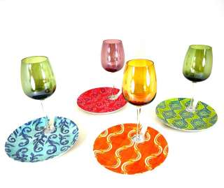 Cypress Home Set of 4 Eco Friendly Bamboo Wine Plates 746851439117