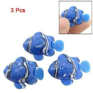Pcs Mini Blue Plastic Tropical Fish Aquarium Decoration: Pet Supplies
