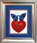 FRAMED GEORGE RODRIGUE Heat in the Kitchen POSTCARD   13 x 11 items in