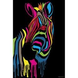 Maxwell Dickson Zebra Stripes Canvas Wall Art