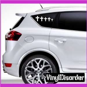 Family Decal Set Religious 04 Stick People Car or Wall Vinyl Decal
