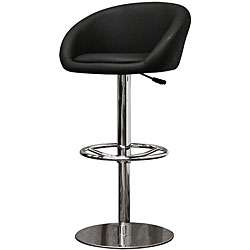 Wynn Modern Black Faux Leather Bar Stools (Set of 2)