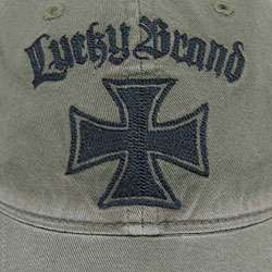 Lucky Brand Mens Iron Cross Baseball Cap