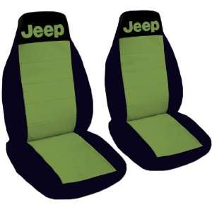 YJ seat covers. One front set of seat covers. Black and hunter