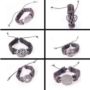 Genuine Leather Mens&Ladys Fashion Charms Bracelets Jewelry