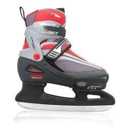 Mach 5 Boys Adjustable Ice Skates Size Medium