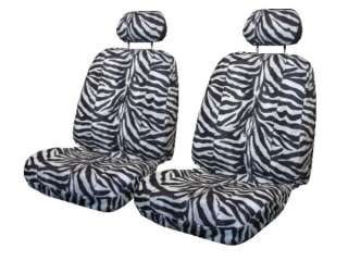 Fun New Car Truck Seat Covers White Black Zebra Print