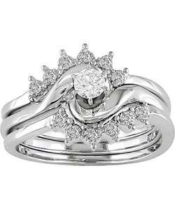 4ct TDW Round Diamond Wedding Ring Set (G I, SI)