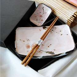 Pink Cherry Blossom Sushi Sets (Case of 4)