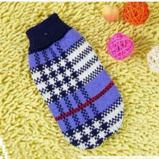 Pet Clothes Winter Dog Cat Clothes Knitted Jumper Sweater