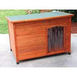 Crown Pet Products Large Cedar Slant Roof Pet House