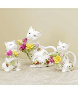 Royal Doulton Old Country Rose 3 piece Kitten Tea Set