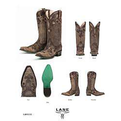 Lane Boots Dawson Womens Brown Cowboy Boots