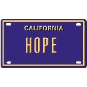 Hope Mini Personalized California License Plate