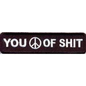 PEACE OF SH*T Funny Quality CLUB Biker Vest Patch!!: Everything Else