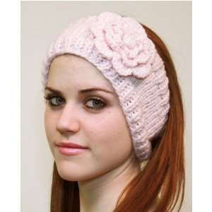 Handmade Headband Flower Design Pink Color with Strecth