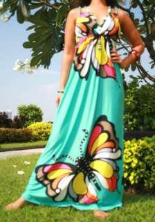 NWT Butterfly Summer/Beach/Evening Women Long Maxi dress Size M XXL AU
