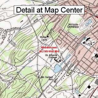 USGS Topographic Quadrangle Map   Middletown, New York (Folded