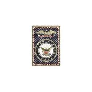 United States Navy Military 3 Layer Afghan Throw Blanket