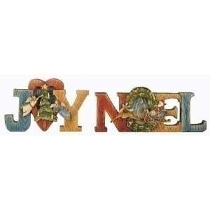 Pack of 4 Woodworks Joy & Noel Christmas Figures