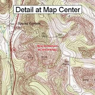 USGS Topographic Quadrangle Map   New Bethlehem