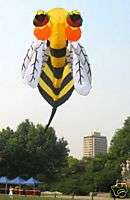 3D Large Bee Soft Kite Eye Catching 2.5m Parafoil kite