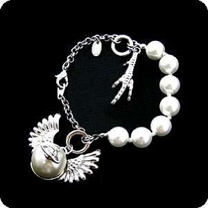 WINGS & CLAWS Faux Pearl with Pendants Pet Necklace for