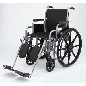 Medline MDS806450EE Wheelchair, 20in, k1, Basic, Dla, Elev Leg 1/Ea