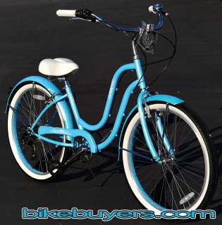 Shimano Tourney 7 speed CF 26 Beach Cruiser Bike Bicycle women BB