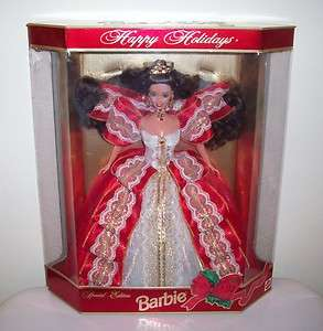 1997 Happy Holiday Barbie Doll Special Edition MIB Gold