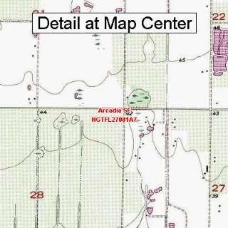 USGS Topographic Quadrangle Map   Arcadia SE, Florida (Folded