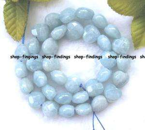 AA blue 12mm natural heart cut aquamarine beads 15