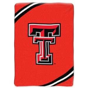 TEXAS TECH College Force 60 x 80 Raschel Throw Blanket: