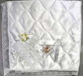 Baptism / Christening 3pc Quilted Blanket Gift Set