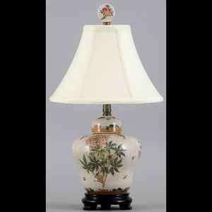 REPRODUCTION CLEOME FLOWER FLORAL PORCELAIN LAMP