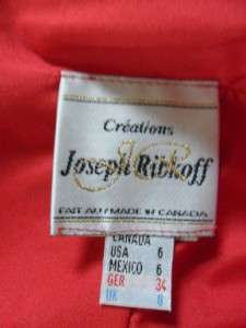 NEW Joseph Ribkoff Creations Size 6 Red HOT Cocktail Evening Dress W