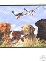 The Great Outdoors Wallpaper Border / Hunting Dogs