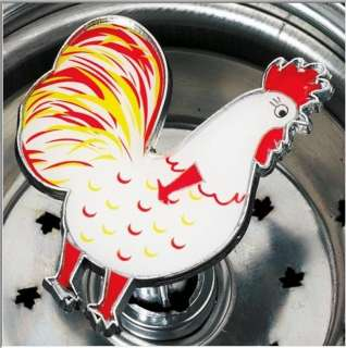 STAINLESS STEEL SINK STRAINER APPLE ROOSTER NEW