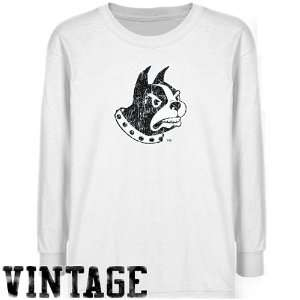 NCAA Wofford Terriers Youth White Distressed Logo Vintage