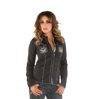 Roar Clothing Womens Joust Mrs Black Cross Shirt